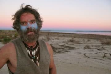 First human powered crosssing of Lake Eyre jon muir