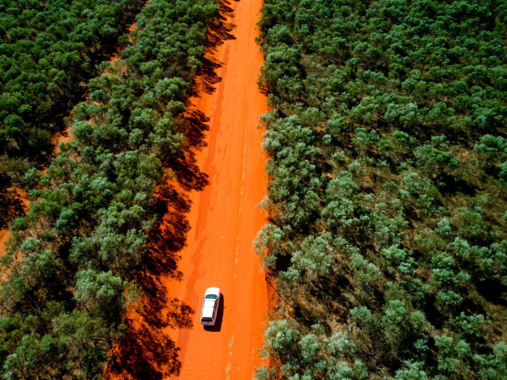 These Adventure Parents Are Re-Writing The Rule Book - ST Images car on outback road