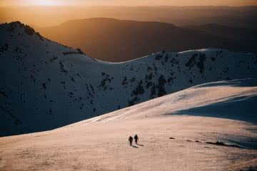 Wait, Australia Has Backcountry Skiing? Is It Any Good? Photo by Ain Raadick or Ben Savage, Arc'teryx event, snow, off-piste, sunset