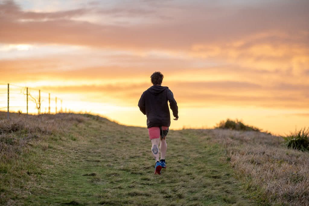 10 Clear Signs That You're A Trail Runner - Scout Hinchcliffe - John Harris Photo - runner sunrise