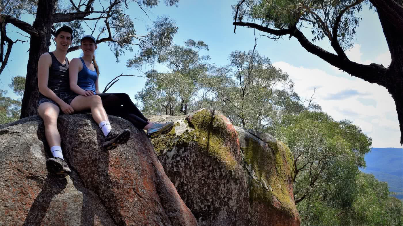 Boulders And Bunyips // Four Brothers Rocks - Bunyip State Park (VIC), Alex Kostas, couple, rocks, view, sitting