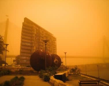 Get Ready - There's Another Dust Storm About To Hit Sydney, kate miles, nsw, sydney, dust storm, orange