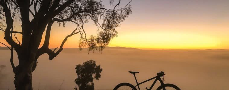 Adventurise your daily commute Mattie Gould bike sunrise commuter bike