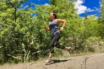 Patagonia Women's Trail Running Range // Gear Review, Amy Beggs-French, runner, woman, trees