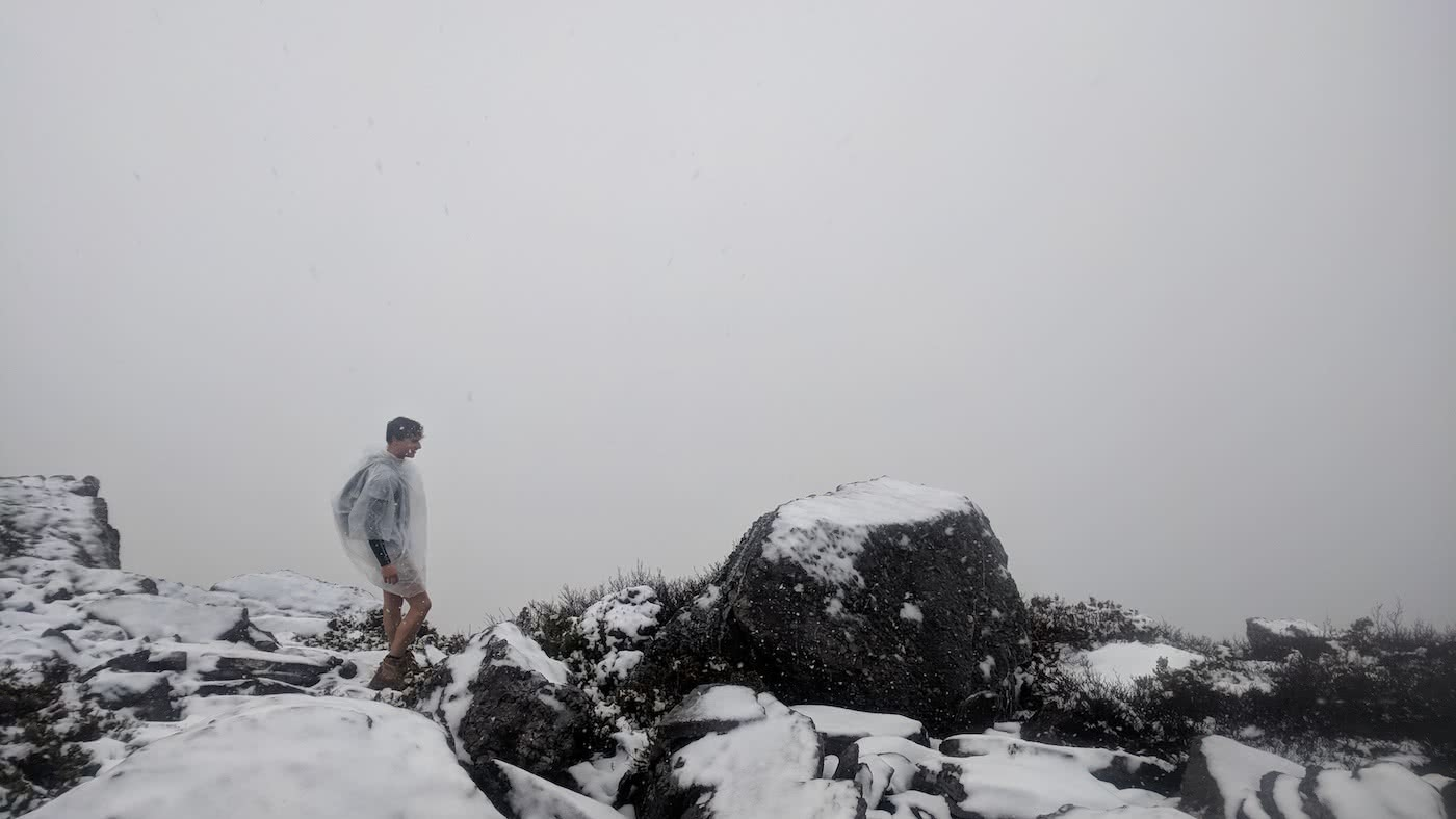 The Best of the West // Mt Murchison (TAS) Oliver Fryett snow mountain poncho shorts