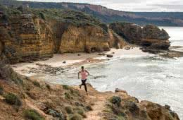 Lessons From A Trail Running Rookie, Simone Mckeown, photographer Chris Ord, runner cliffs, ocean