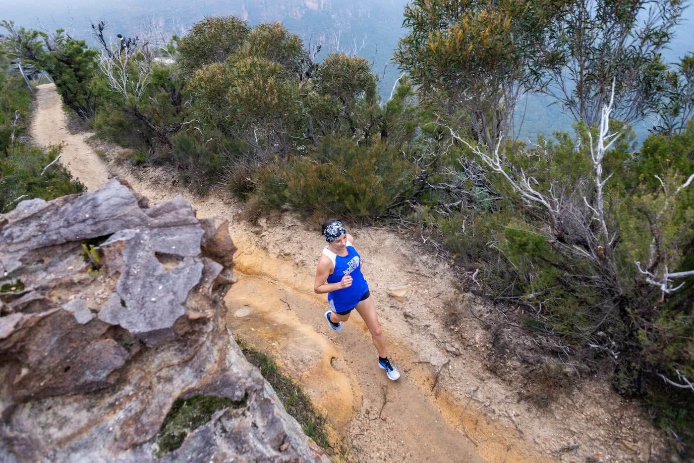 The North Face Pros Reveal Their Favourite Trail Runs, Victoria Beck, Photo by Jim Skouras, Blue Mountains, NSW, Trail running month