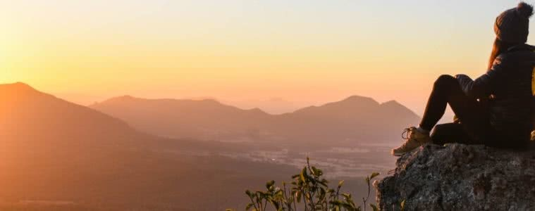 Sunrise and scrambling / Spicers Peak Lisa Owen sunrise, mountain, view, person, boots