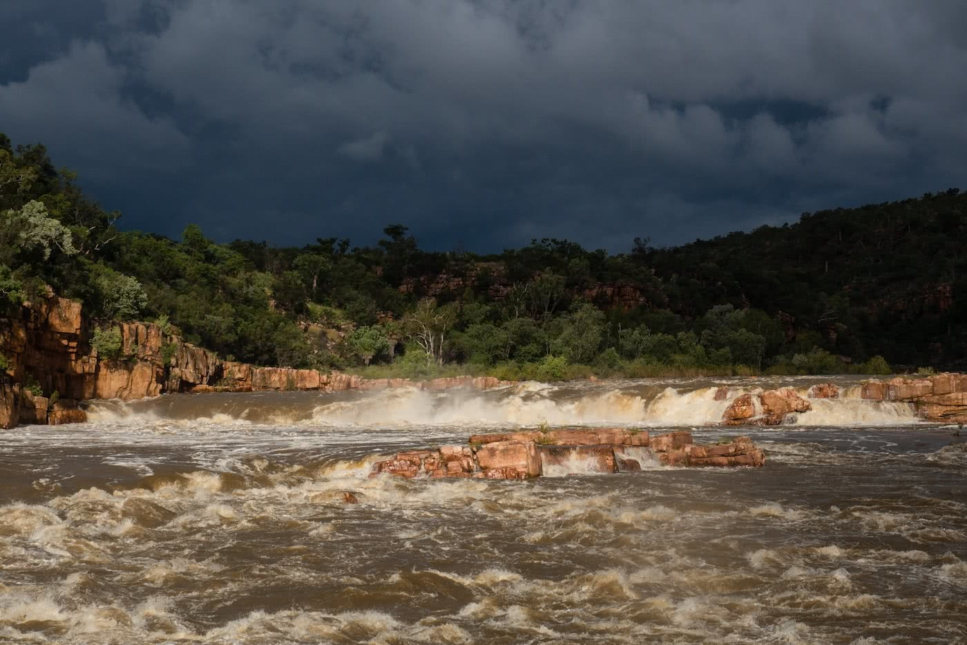 A Humbling Landscape // Kayaking The Kimberley (WA) Lachie Carracher storm, clouds, river.jpg