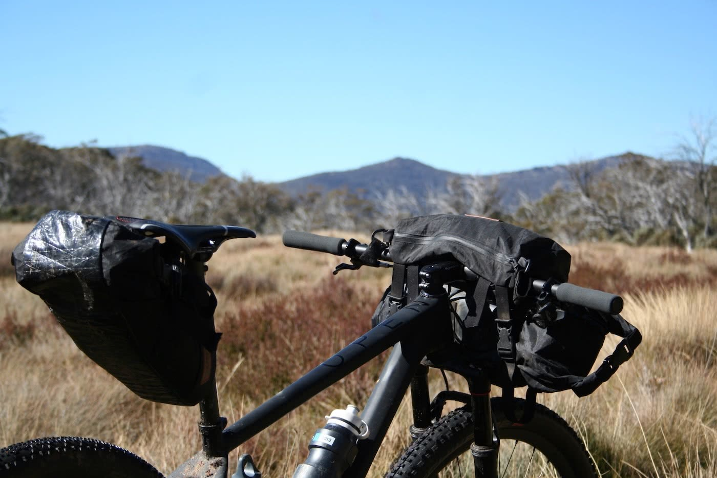 Bikepacking To Oldfields Hut (ACT-NSW) Mattie Gould bike, bike bags, mountains