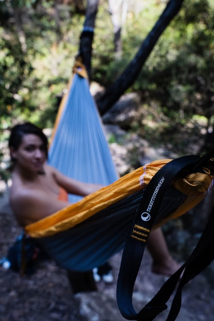 How To Camp In A Hammock, jeremy lam, ticket to the moon, climbing anchors, sleep in a hammock, blue mountains, nsw