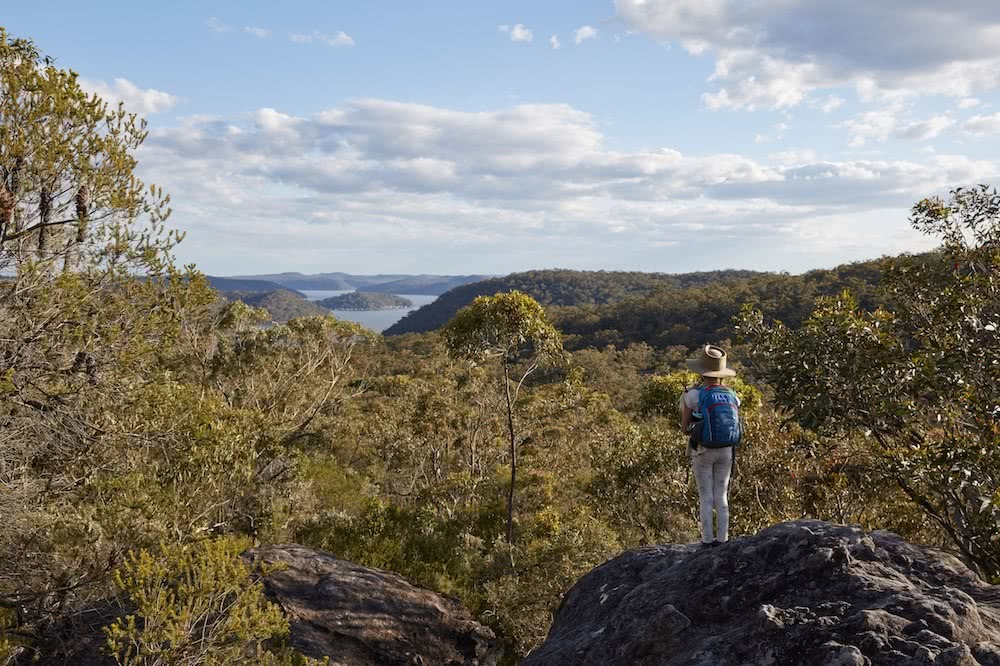 Overnight Hike To Pindar Cave // Brisbane Water National Park (NSW), photo by Andy Lewis, NSW, views towards Pittwater, Millie Lewis,