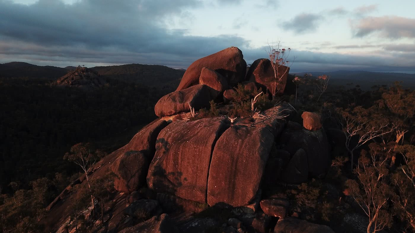 The Best of the New England Highlands (NSW) Dan Parkes rocks, sunset