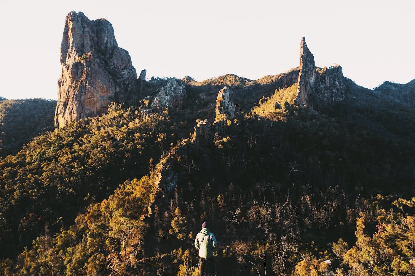 The Best of the New England Highlands (NSW) Dan Parkes rocks, hiker, forest
