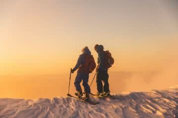 Brand Adventure - Backcountry skiing sunset henry brydon