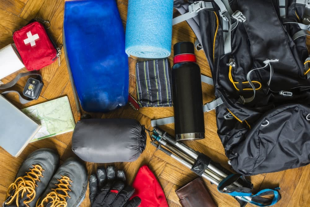 Essential Survival Gear For Day Hiking And Trail Running In The Australian Alps, Pack shot, gear