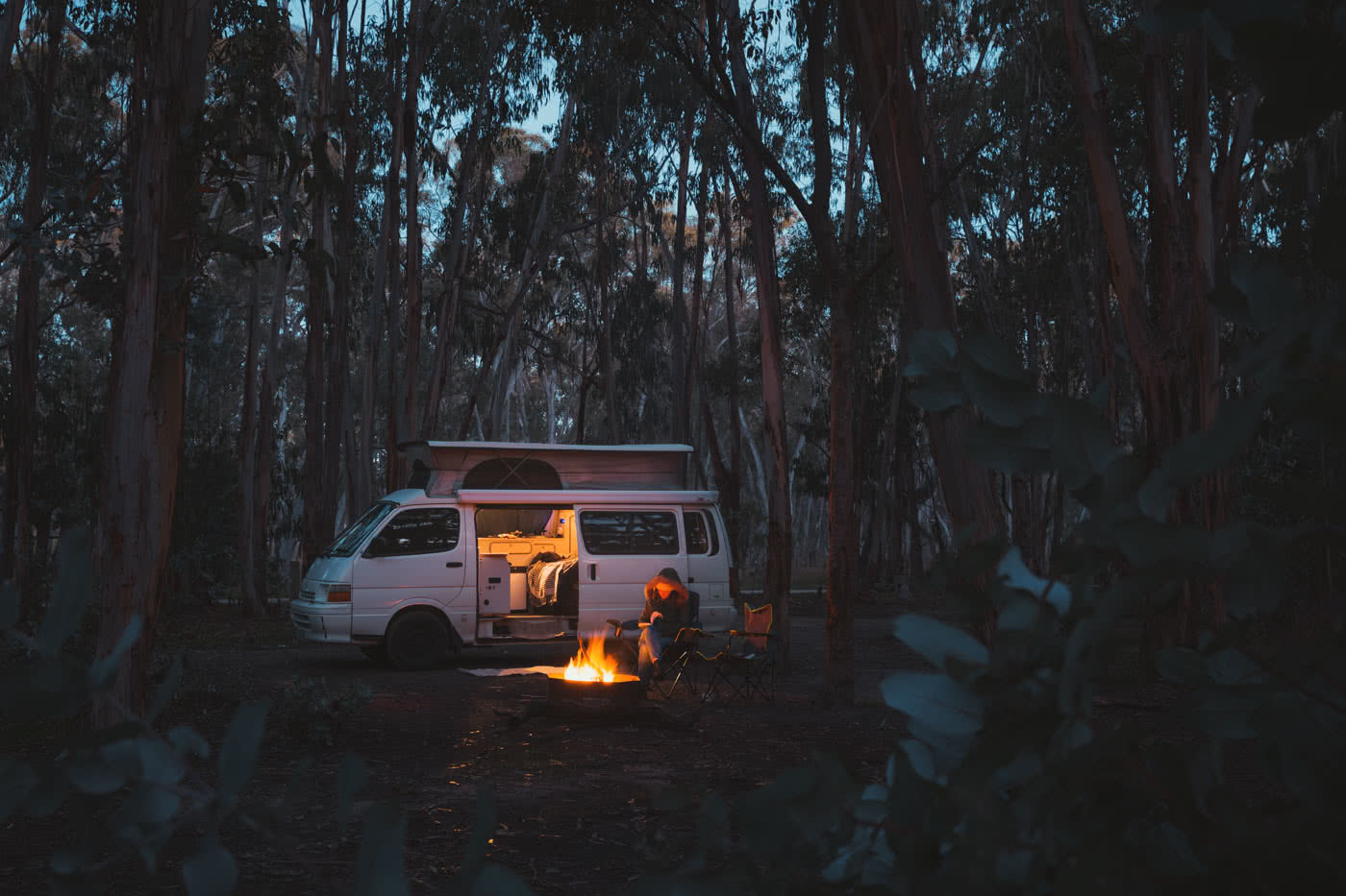 5 Camping Getaways Near Adelaide Jack Brookes, campsite, van, campfire, forest