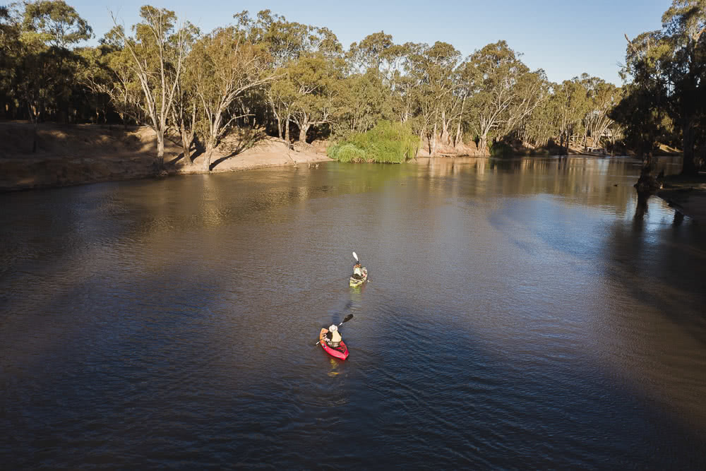 Deniliquin Should Be Your Next Weekend On The River, photo by Ben Savage, deniliquin, nsw, visit deni, drone, kayak