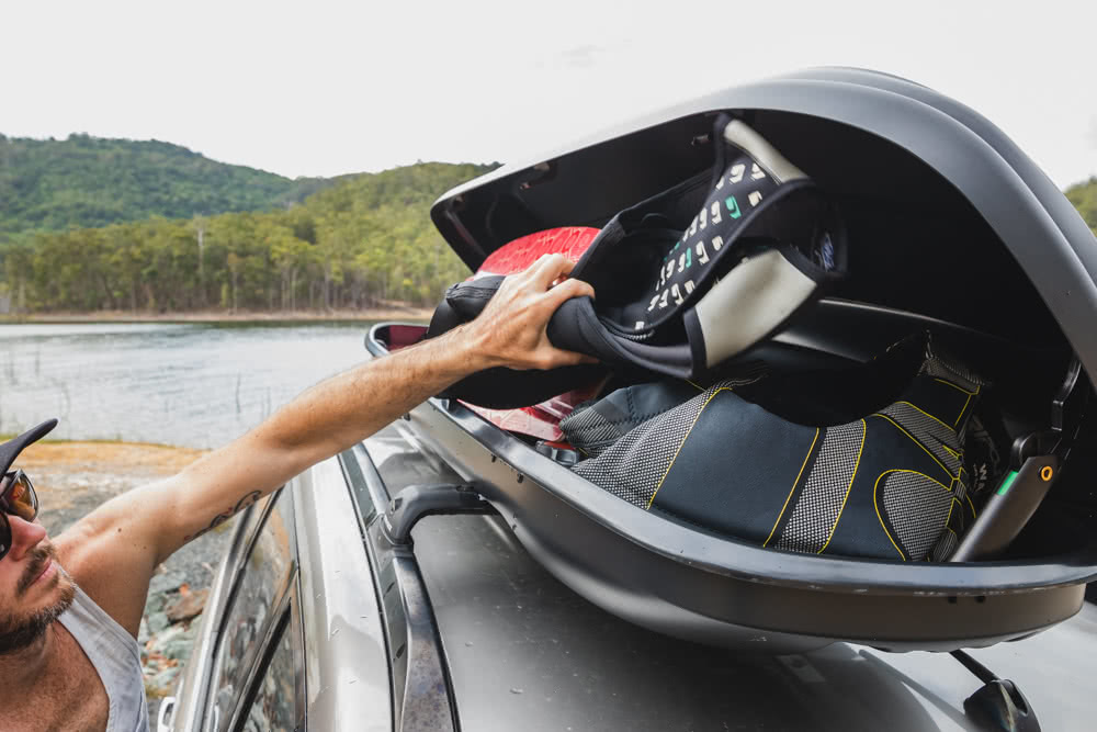 Rhino-Rack MasterFit 320L Roof Box // Gear Review, Nathan McNeil, driving, road, storage, wakeboard