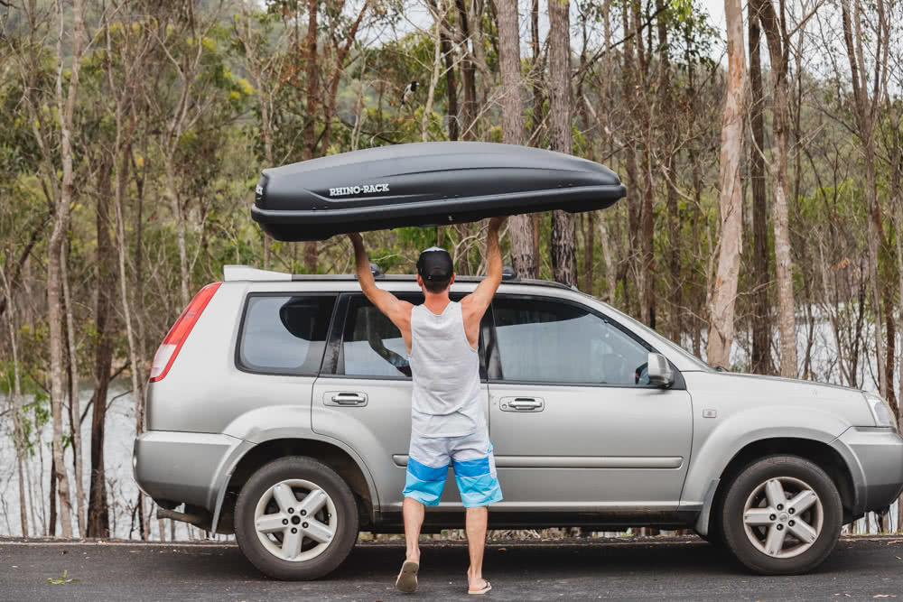 Rhino-Rack MasterFit 320L Roof Box // Gear Review, Nathan McNeil, driving, road, storage, lifting
