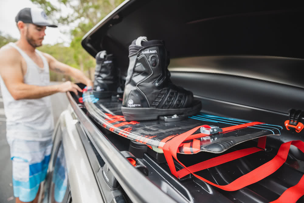 Rhino-Rack MasterFit 320L Roof Box // Gear Review, Nathan McNeil, driving, road, storage