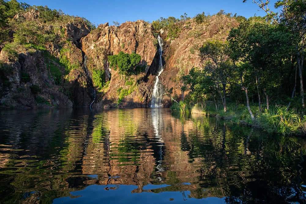 How To Photograph The NT, Katie Goldie, Wangi Falls, Sunset