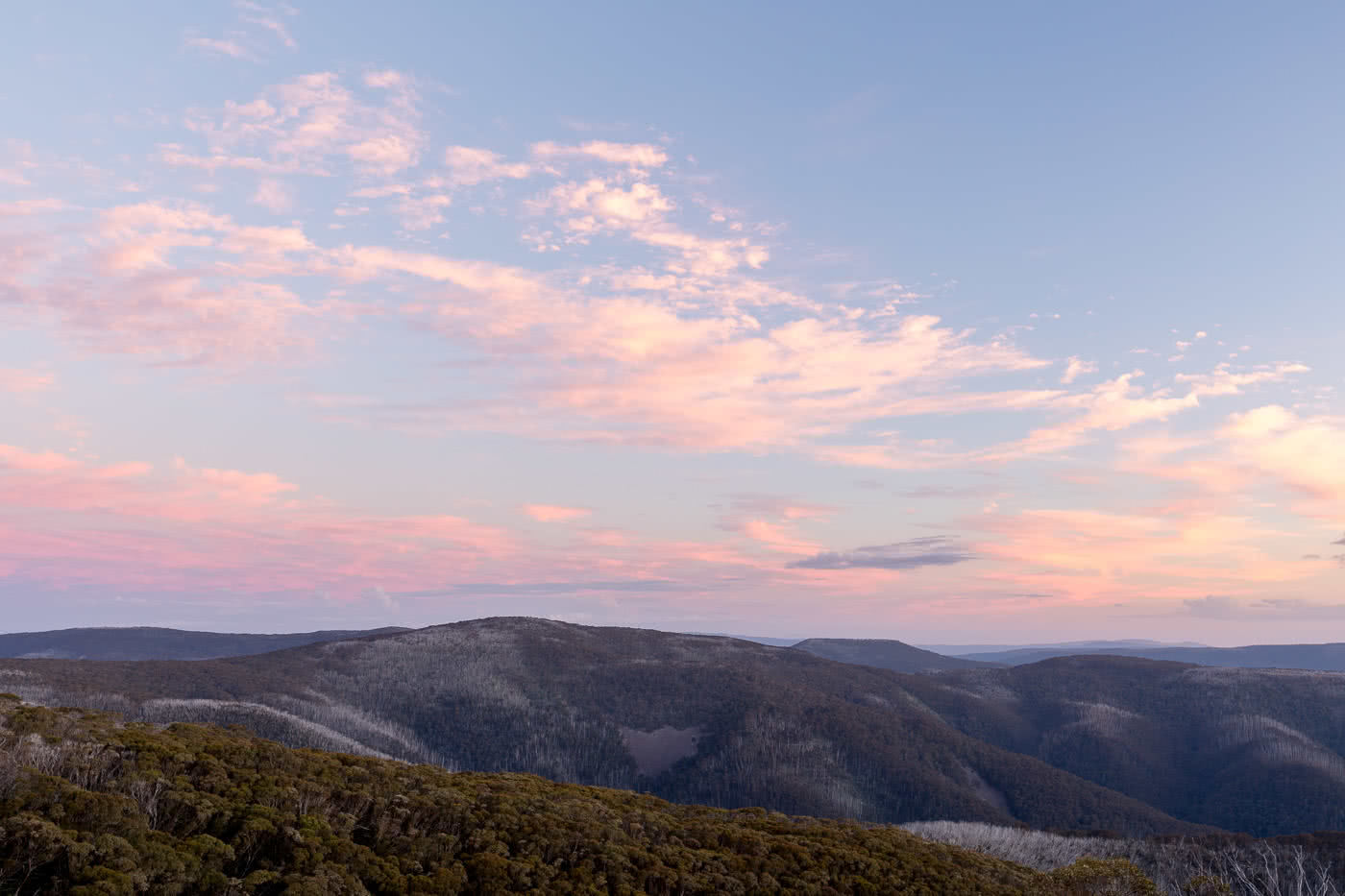 The Many Faces Of Mount Hotham Jon Harris mountains, sunset, clouds