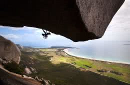 5 Tips to improve your original outdoor photography Olivia Page rock climbing, coastline, overhang