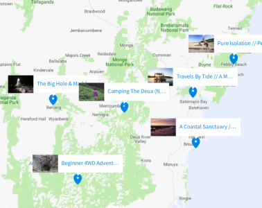 Microadventure Map, Screenshot, NSW