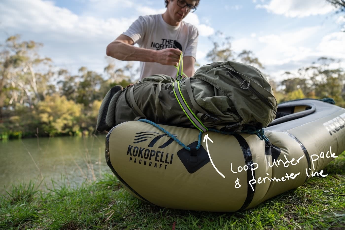 5 Ways To Pimp Your Packraft Mitchell Scanlan Bloor packraft, loop under pack