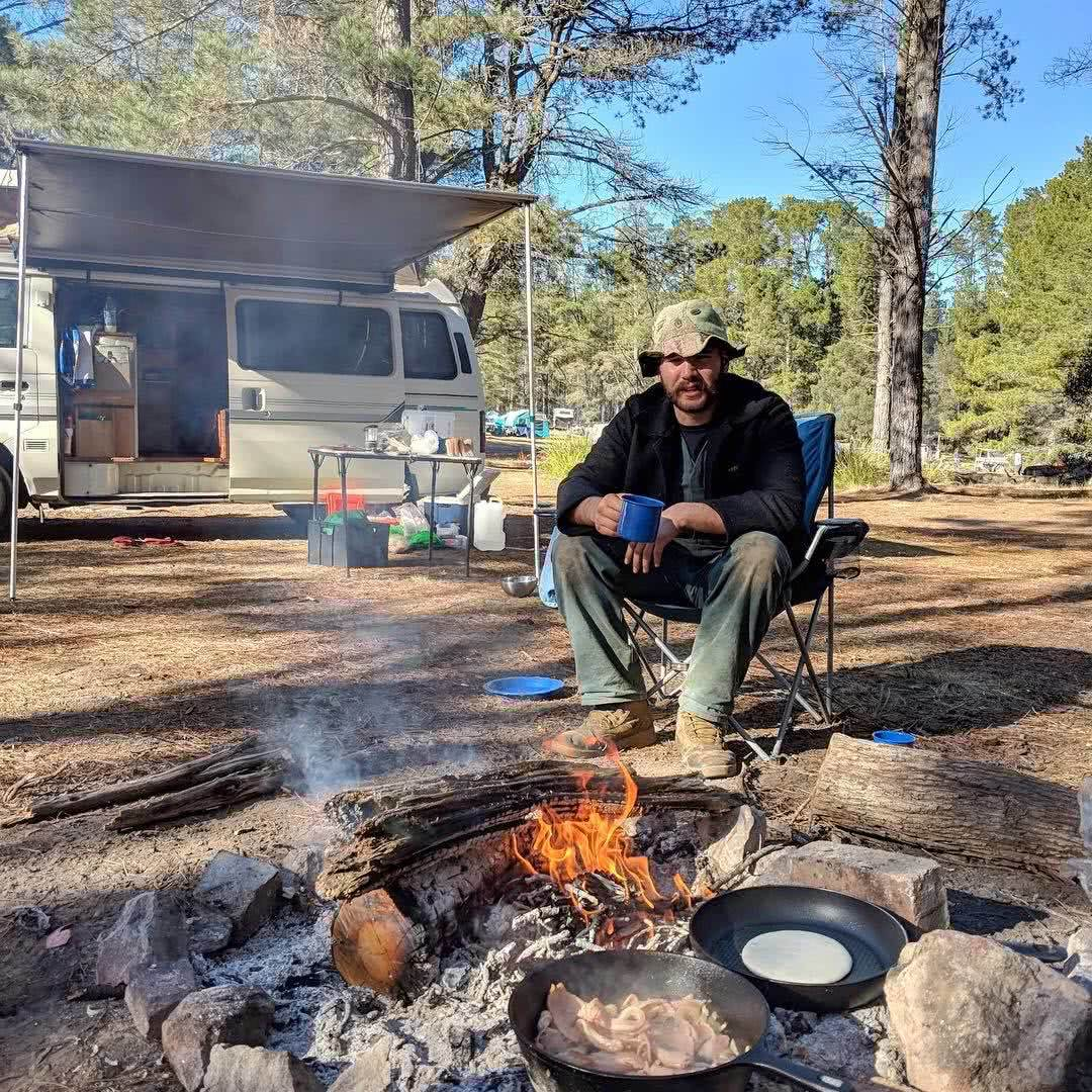 Plain and Simple // Belanglo State Forest (NSW) Nicholas Di Genni campfire, bacon, campervan