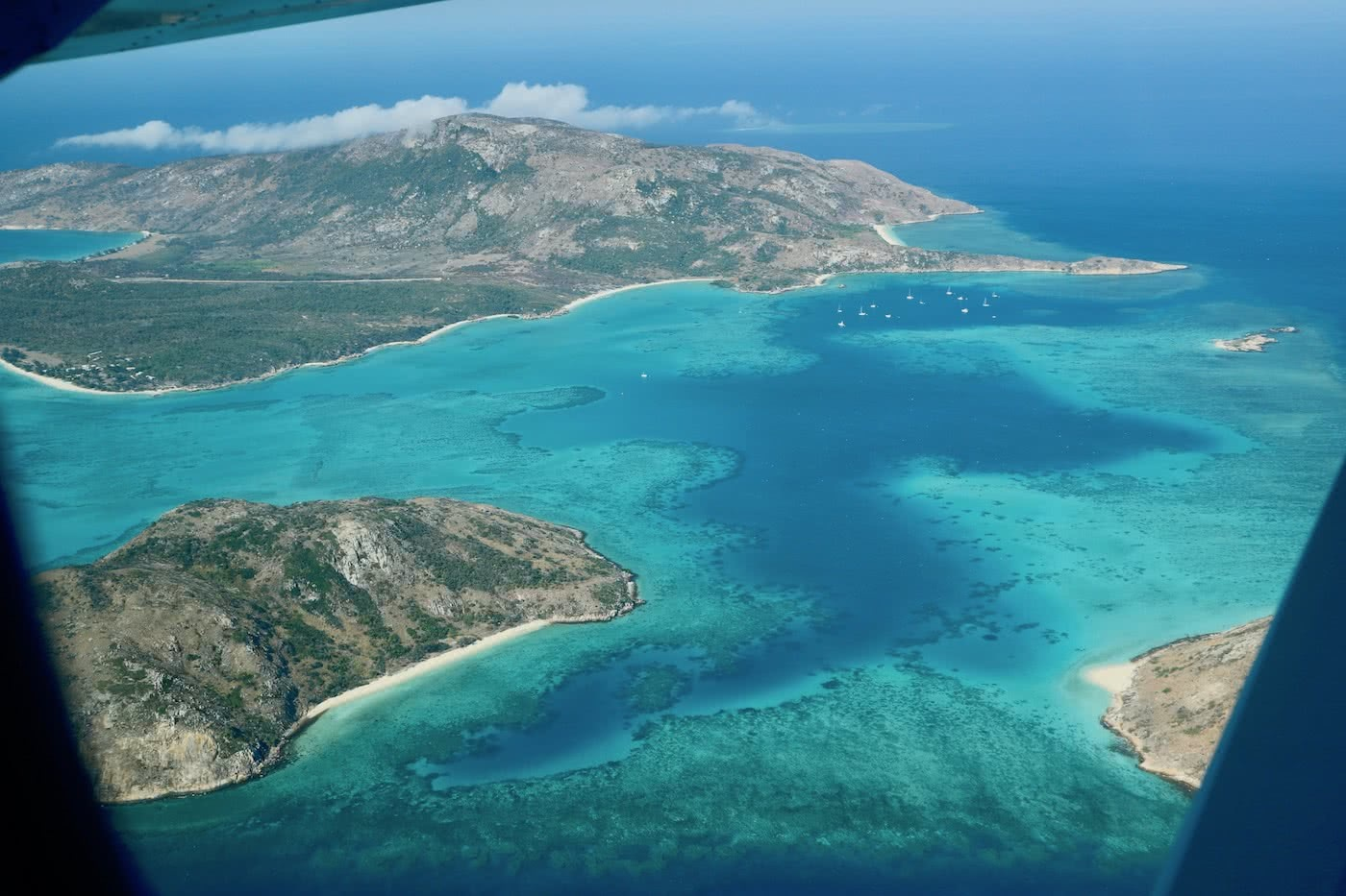 Paradise, Lost :: Lizard Island (QLD) Solaye Snider aerial view, island, ocean