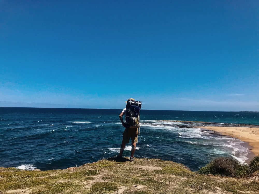 Hiking The Yuraygir Coastal Walk With A Boat On My Back (NSW), photo by Jospeh Faggion, hiking, coastal, packrafting, beach, nsw