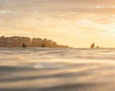 Bondi Sunrise – Early Morning Dispatches From The Break, photo by Matt Pearce, bondi, sunrise, ocean, surf, golden, water photography