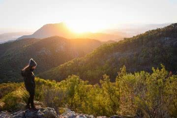 Catch Sunrise From Mount May (QLD), photo by Lisa Owen, mountain