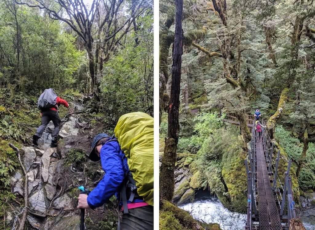 Gillespie Pass Circuit – the Best NZ Multi-day Hike You've Never Heard Of Aidan Howes, photos by Aidan Howes hiker, backpack, steep, day 1