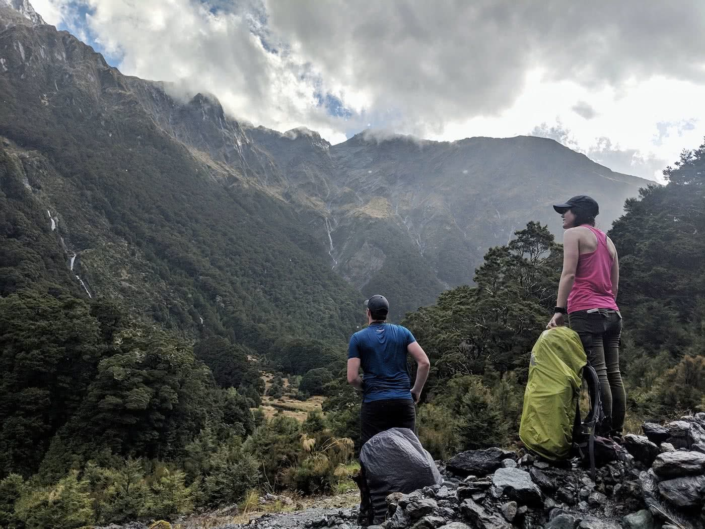 Gillespie Pass Circuit – the Best NZ Multi-day Hike You've Never Heard Of Aidan Howes, photo by Sonja Saxe hiker, backpack covers, mountain, valley