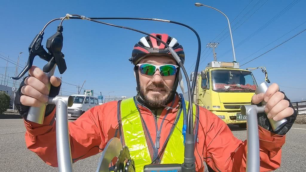 Josh Just Handcycled The Length Of Japan For Charity, josh stinton,, handcycle, apricot, outspire
