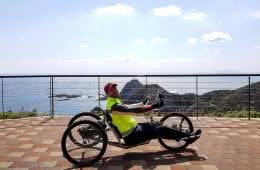 Start in Cape Sata, Josh Just Handcycled The Length Of Japan For Charity, josh stinton,, handcycle, apricot, outspire