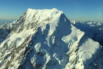 Freaky Face Appears On Aoraki/Mount Cook, photo by Chris Rudge via Stuff.co.nz
