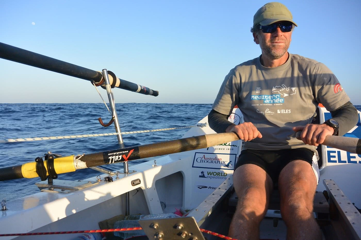 A Life Of Adventure And Now, Politics? // Interview With Huw Kingston,Photo by Marin Medak, Huw Kingston rowing across Mediterranean