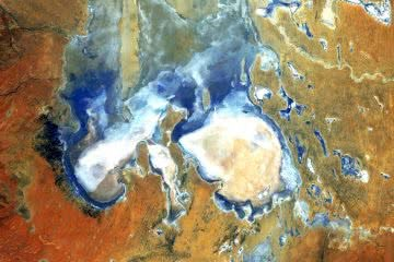 lake eyre, photo by NASA