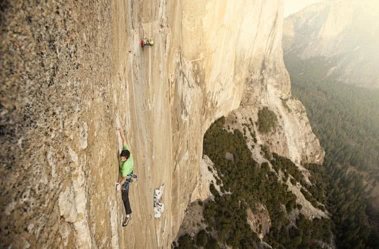 The Dawn Wall, Kevin Jorgeson, pitch 15, the traverse