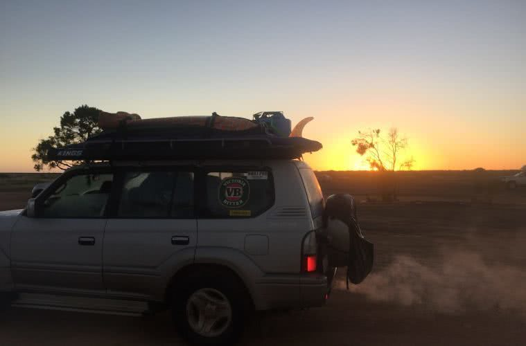 Highlights From Crossing The Nullarbor Plain Ashlee Kehoe-Sporton 4WD, camping, sunset