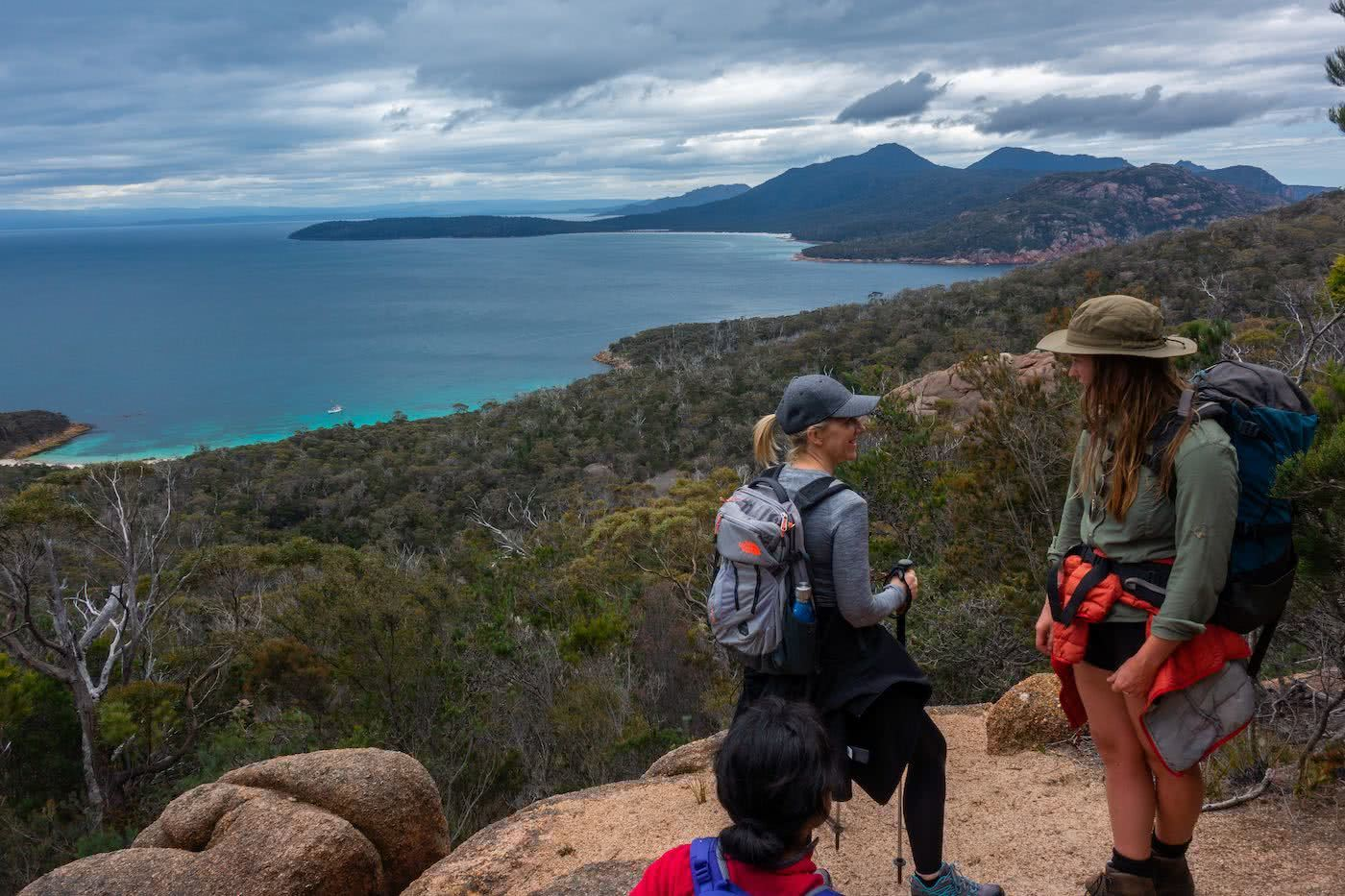 The Power Of A Fatal Shore :: Freycinet Peninsula (TAS) Craig Peace hiking, summit view, bay