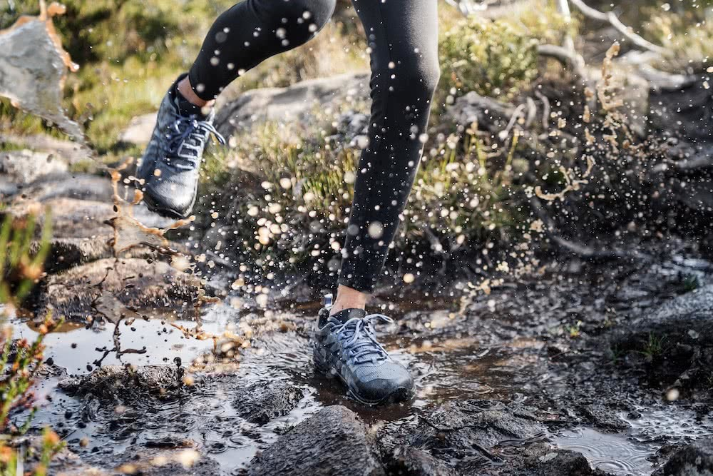 How To Choose A Great Pair Of Hiking Boots (And Why You Need Them), Photos by Jake Anderson, Merrell, choosing hiking boots, tasmania, hiking, trail running, mid-cut, low-cut, trail runners, trail running, water