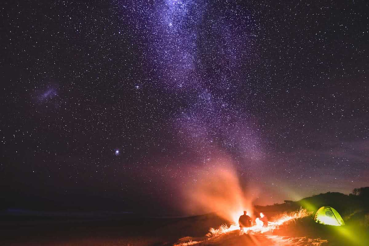 The Best Camping Near Melbourne, shot by Pat Corden, Gippsland, coastal, beach, camping, astrophotography, campfire, victoria, near melbourne