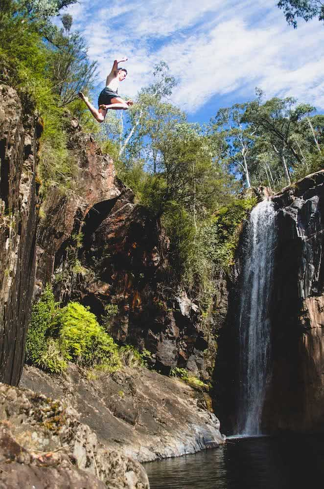 The Best Camping Near Melbourne, shot by Pat Corden, mt buffalo, wild swimming, jump, victoria, near melbourne