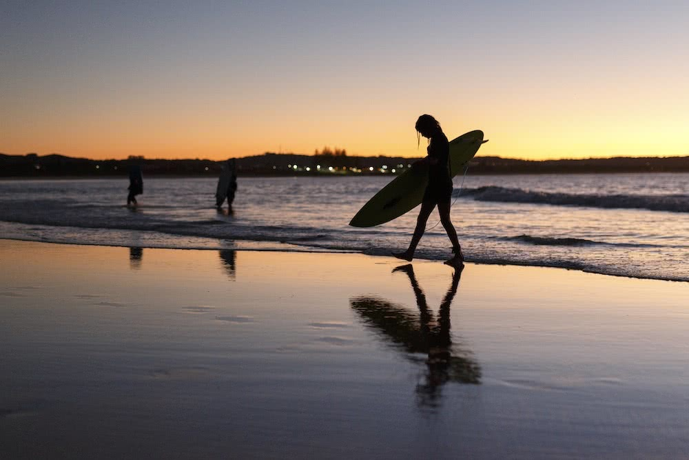 Stunning Coastal Photography From Our Canon Collective Workshops, photo by Chris Sinclair, surfer, sunset, byron bay