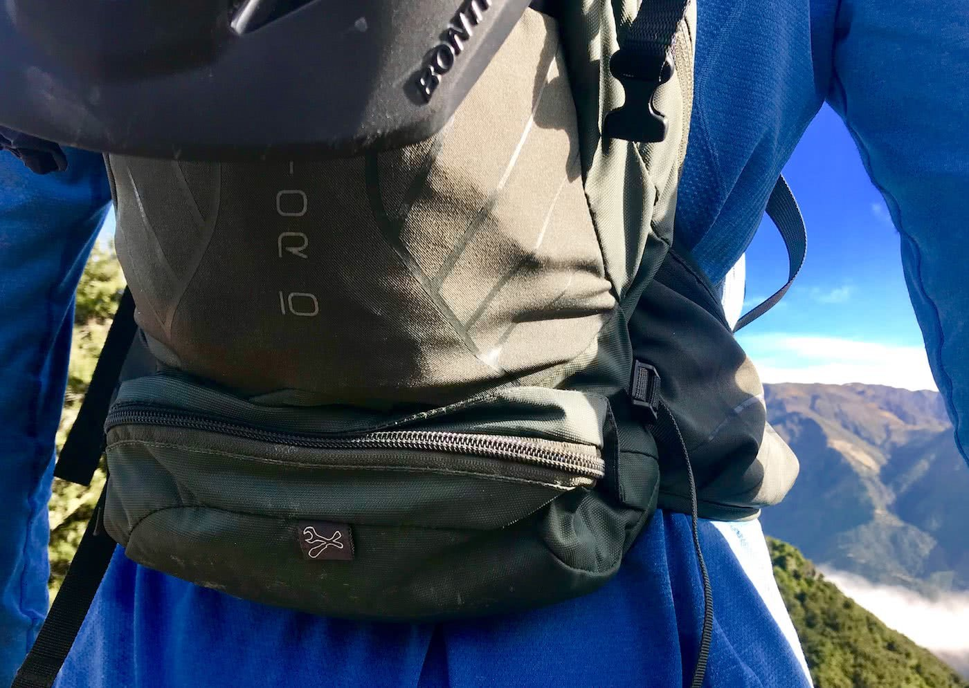 Osprey Raptor 10 Riding Pack // Gear Review by Rowan Beggs-French cycling backpack, rock garden, mountain biking, backpack detail